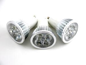 3 Pack ~ LED 4W (4x1W) GU10 Warm White Lamp Light Spotlight Bulb 60 Degree Beam CE ROHS