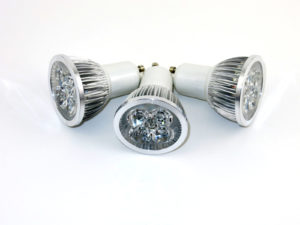 3 Pack ~ LED 4W (4x1W) GU10 Cool White Lamp Light Spotlight Bulb 60 Degree Beam CE ROHS