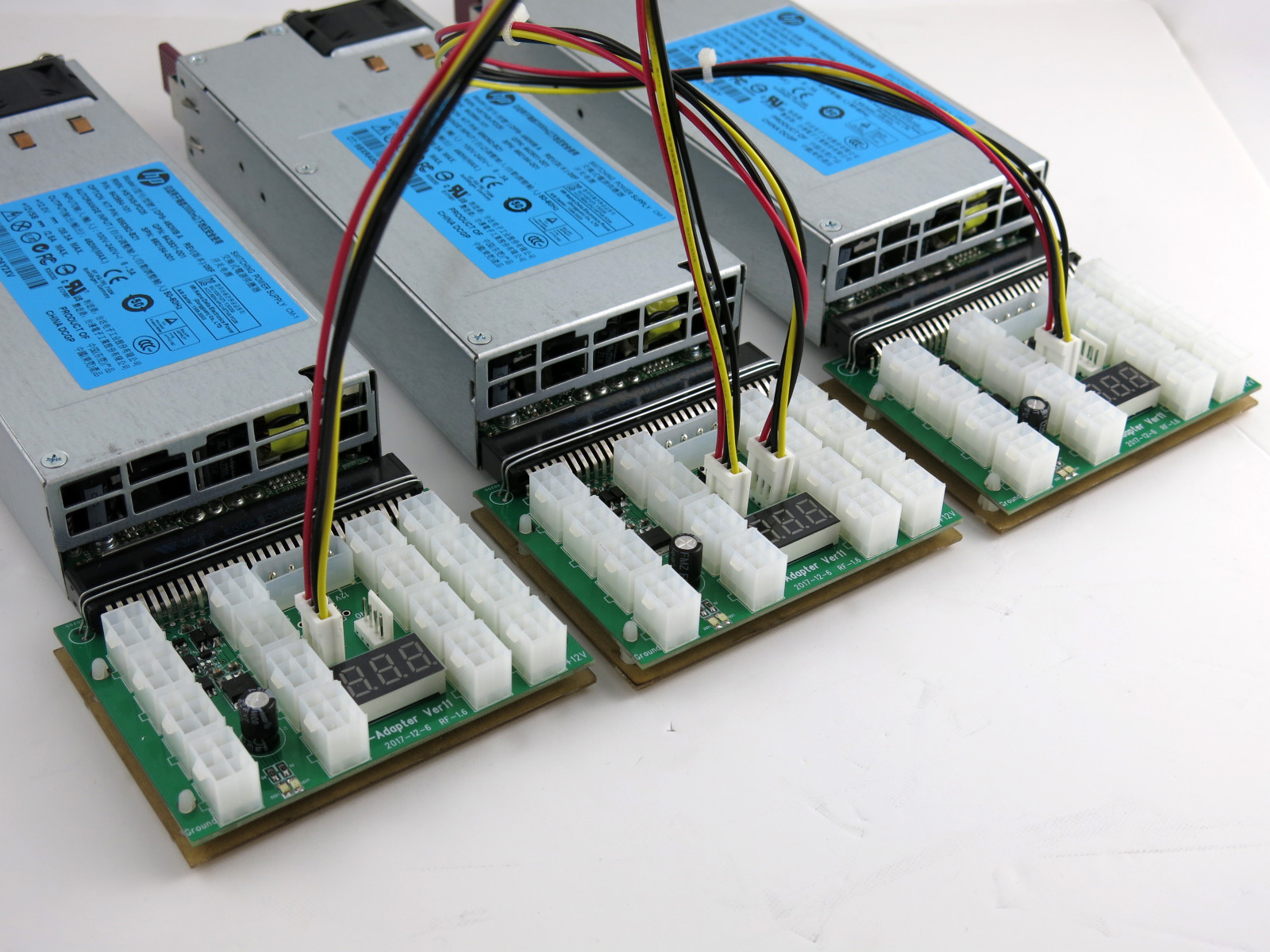X11 16 Port Chain Sync Breakout Board for HP DELTA LITE-ON Server Power  Supply use in ASIC or GPU Mining