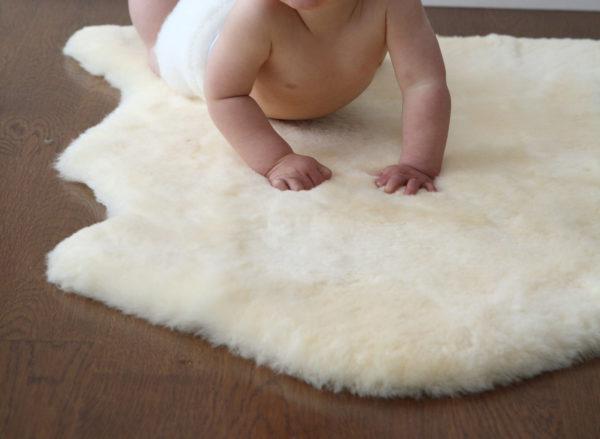 Auskin InfantCare Shorn Lambskin Baby Rug