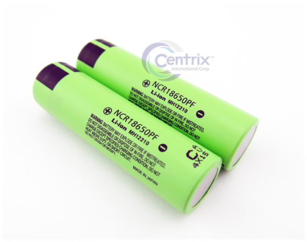 2x Panasonic 10A High Drain Hybrid 2900mAh. 3.7v IMR Flat Top Li-Ion Battery