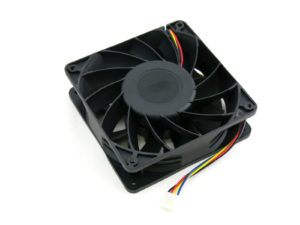 ASIC Miner Open Air Mining Rig Replacement Fan 4-Pin 4500 RPM 12V 186.2 CFM 120mm x 38mm