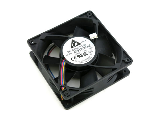 Delta DX-62 ASIC Miner GPU Mining Cooling Fan 4500 RPM Variable Speed 191 CFM 55 DBA 120mm x 38mm