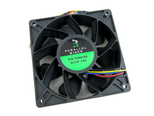 6100 RPM ±10% fan upgrade for ASIC miners and other rigs.Maximum airflow 260 CFM. Life expectancy of 60,000 hourscontinuous operation.